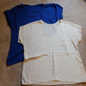 Bundle 2 career silky blouses
